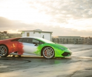 2016 Print Tech Lamborghini Huracan Bull Wrapped Tricolor Flames Chrom Design 2