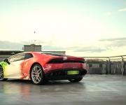 2016 Print Tech Lamborghini Huracan Bull Wrapped Tricolor Flames Chrom Design 4