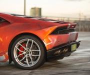 2016 Print Tech Lamborghini Huracan Bull Wrapped Tricolor Flames Chrom Design 9