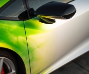 2016 Print Tech Lamborghini Huracan Bull Wrapped Tricolor Flames Chrom Design 10