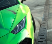2016 Print Tech Lamborghini Huracan Bull Wrapped Tricolor Flames Chrom Design 12