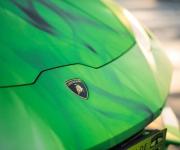 2016 Print Tech Lamborghini Huracan Bull Wrapped Tricolor Flames Chrom Design 13