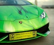 2016 Print Tech Lamborghini Huracan Bull Wrapped Tricolor Flames Chrom Design 14