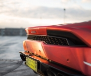2016 Print Tech Lamborghini Huracan Bull Wrapped Tricolor Flames Chrom Design