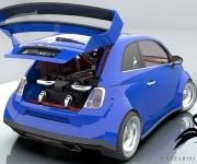 Fiat 500 Powered- By Ferrari 4-5 Liter V8 0