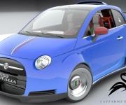 Fiat 500 Powered- By Ferrari 4-5 Liter V8 1
