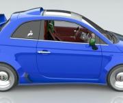 Fiat 500 Powered- By Ferrari 4-5 Liter V8 2