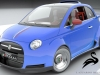 Fiat 500 Powered- By Ferrari 4-5 Liter V8