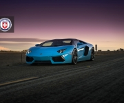 Lamborghini Aventador with HRE RS101 in Satin Black 0
