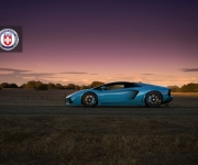 Lamborghini Aventador with HRE RS101 in Satin Black 3