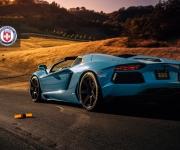 Lamborghini Aventador with HRE RS101 in Satin Black 4