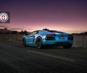 Lamborghini Aventador with HRE RS101 in Satin Black 5