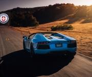 Lamborghini Aventador with HRE RS101 in Satin Black 6