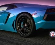 Lamborghini Aventador with HRE RS101 in Satin Black 8