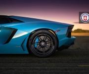 Lamborghini Aventador with HRE RS101 in Satin Black 9