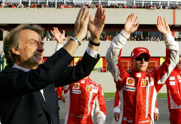0fc6f226c4e raik Raikkonen, Schumacher and Montezemolo to leave their F1