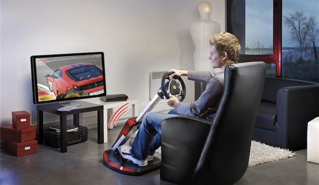 69d8acd098cokpit Thrustmasters latest gaming rig is the next best thing to a Ferrari 430 Scuderia [w/video]