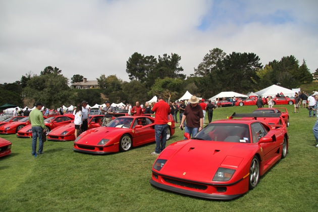 Ferrari F40 birthday celebration