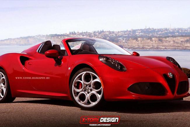 Alfa Romeo 4C Spider [render]