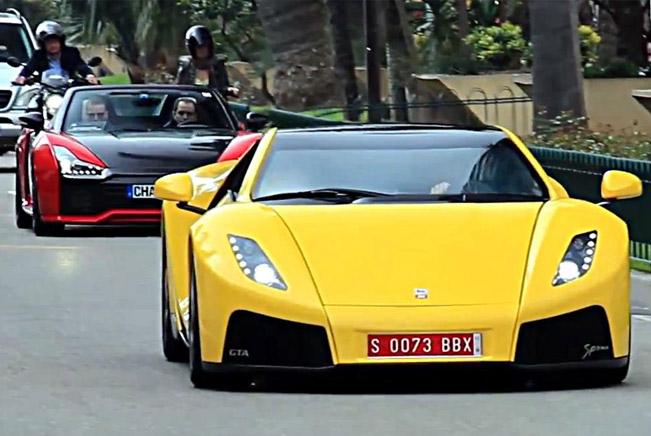 GTA Spano and Ferrari 458 Italia in Monaco [video]