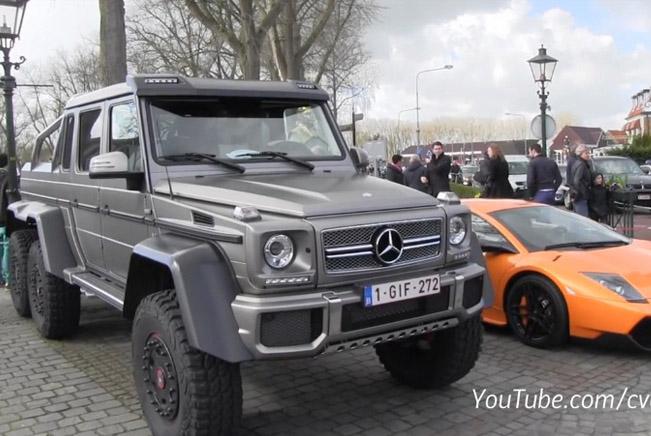 Mercedes-Benz G63 AMG 6x6 and Lamborghini Murcielago SV