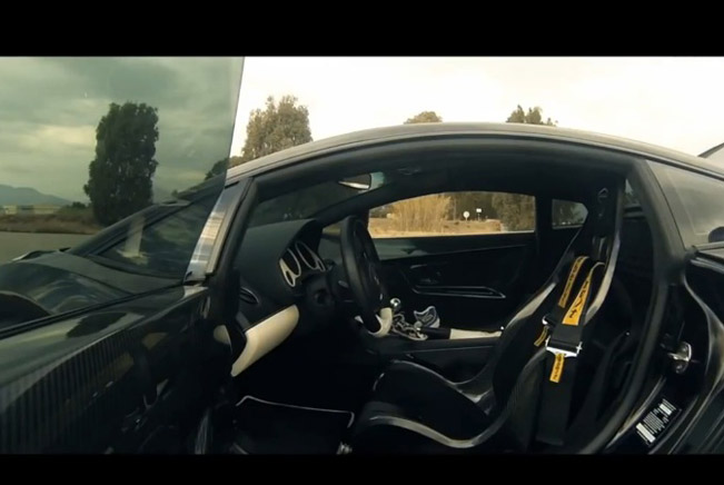 Lamborghini Gallardo Underground Racing catches fire... Again [video]