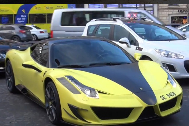 Samuel Eto'o with Mansory Siracusa Ferrari 458 in Paris