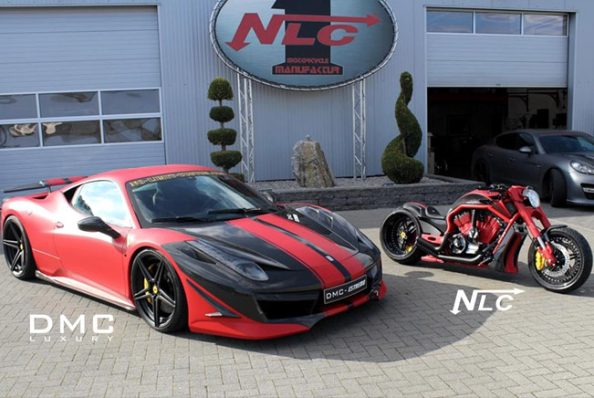 DMC Ferrari 458 Italia Estremo and The Twin Bike t2 DMC Ferrari 458 Estremo and Twin Bike