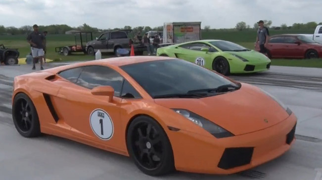 Lamborghini Gallardo 1800HP - On Fire at over 200 mph