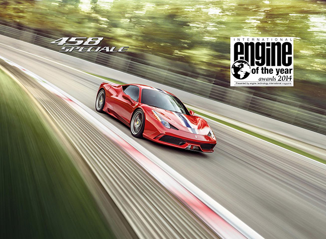 Ferrari 458 Speciale 2014 Engine of The Year Ferrari Has Won in Two Categories of Engine of The Year Awards