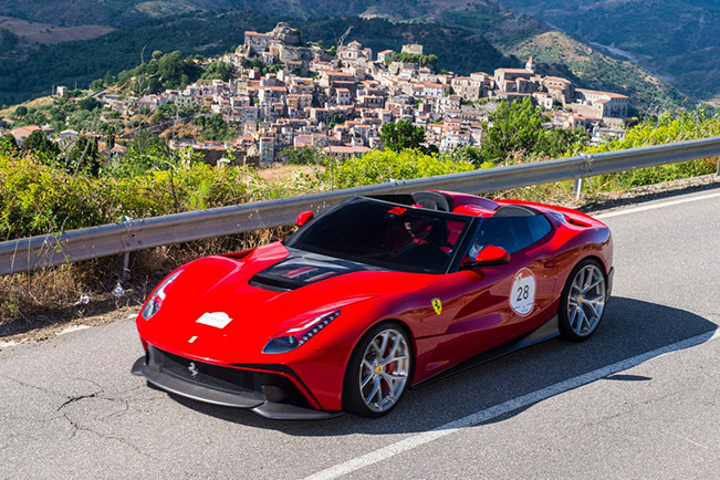 Ferrari F12 Berlinetta TRS A new One Off debuts in the Ferrari Cavalcade 2014