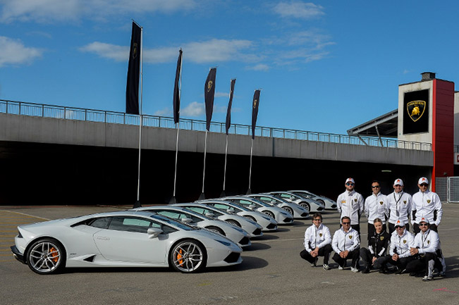 Lamborghini Accademia Instructors LR Lamborghini Launches North American Performance Driving School