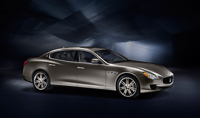 "Maserati Quattroporte Zegna Limited Edition 2015 Front Angle ""One of 100"" The Maserati Quattroporte Zegna Limited Edition"