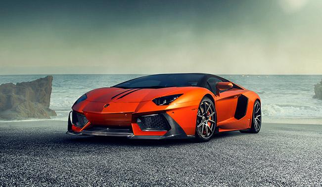 The New Zaragoza Front Spoiler for the Lamborghini Aventador-V