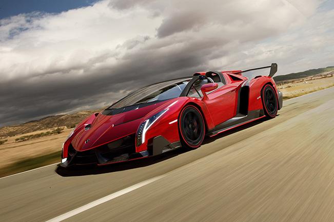 2015 Lamborghini Veneno Roadster Front Angle