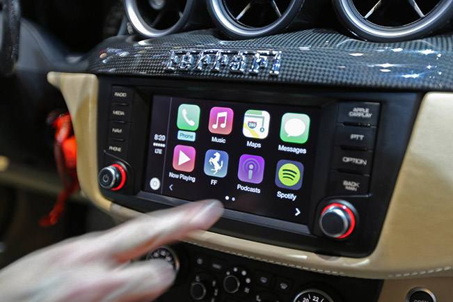 The First FF With CarPlay Stays in Italy [VIDEO]