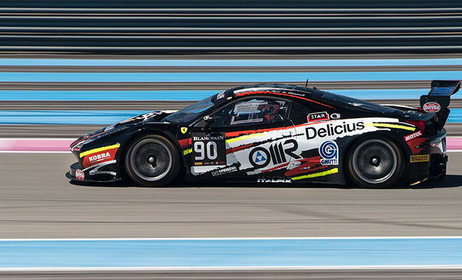 Villorba Ferrari 458 in action at Le Castellet Blancpain Endurance Series – 