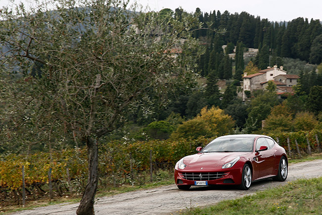 Ferrari enchants Tuscany Ferrari enchants Tuscany