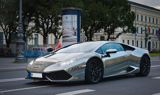 Lamborghini Huracan wrapped in Centurion Black Chrome by Print Tech