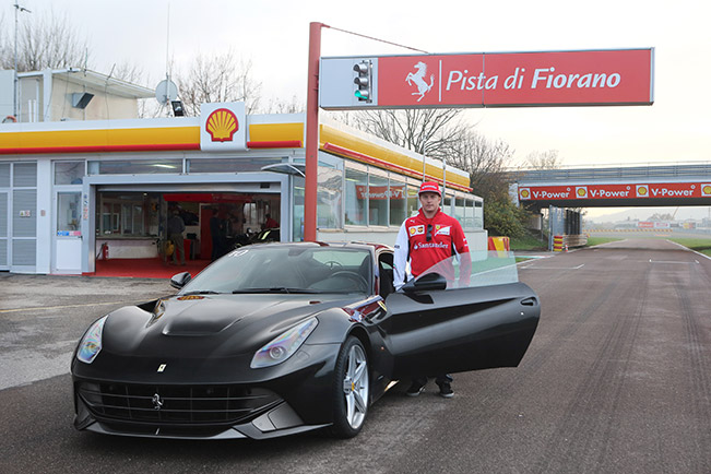 Kimi and The F12 Berlinetta