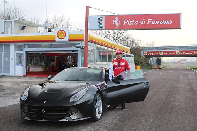Kimi and The F12 Berlinetta