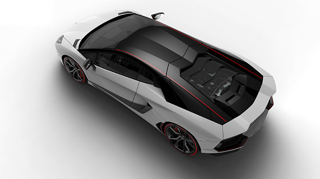 2015 Lamborghini Aventador LP700-4 Pirelli Edition Rear Angle
