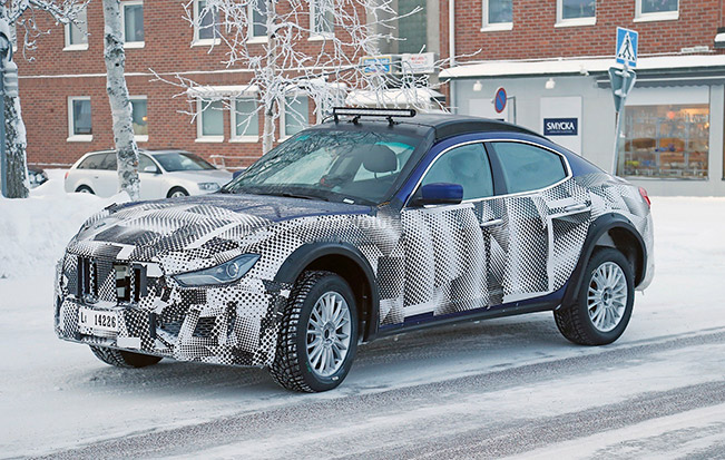 2016 Maserati Levante Test Mule Parked in Scandinavia