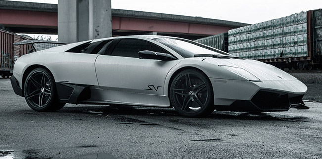 Lamborghini Murcielago SV with HRE P107 in Satin Black