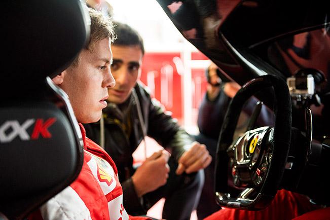 Sebastian Vettel Ferrari FXX K Vettel in the FXX K