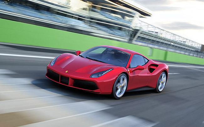 Ferrari 488 GTB 2016 Front Angle Dynamic The Ferrari 488 GTB – Extreme Power for Unique Driving Pleasure