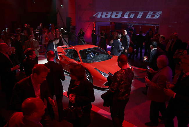 Ferrari 488 GTB launch Ferrari 488 GTB Launches in London to VIP Guests