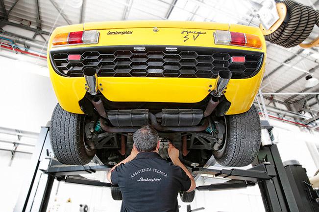Lamborghini Relaunches Restoration Center Rear