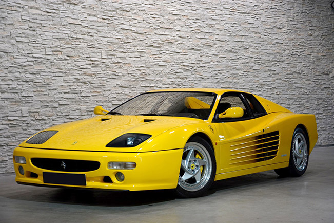 Ferrari F512 M 1994 Front Angle Ultimate Testarossas on Offer at Silverstone Auctions' May Sale