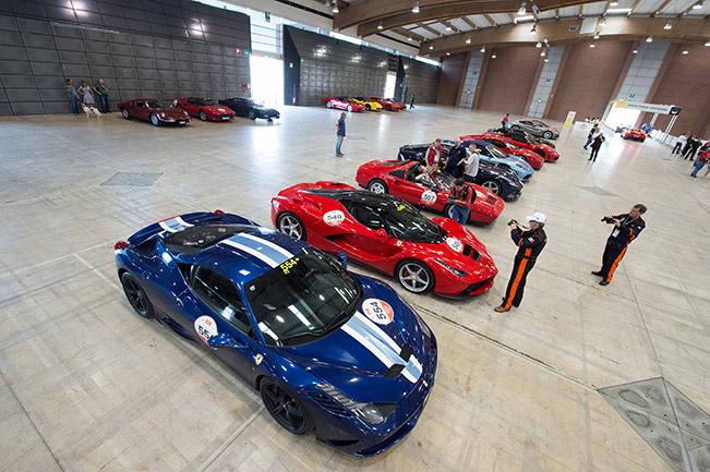 The Ferrari Tribute to Mille Miglia Starts